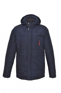 Куртка чоловіча демісезонна (синя, довга)