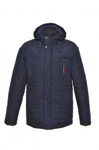 Men's demi-season jacket (blue, long)