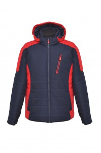 Men's demi-season jacket (blue-red)