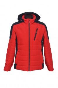 Men's demi-season jacket (red-blue)