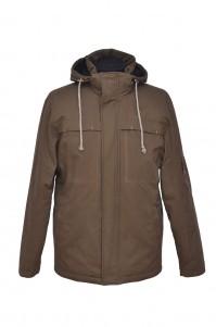 Куртка-парка демісезонна (коричнева)